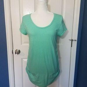 Liz Lange Maternity Aqua Tee Shirt Medium